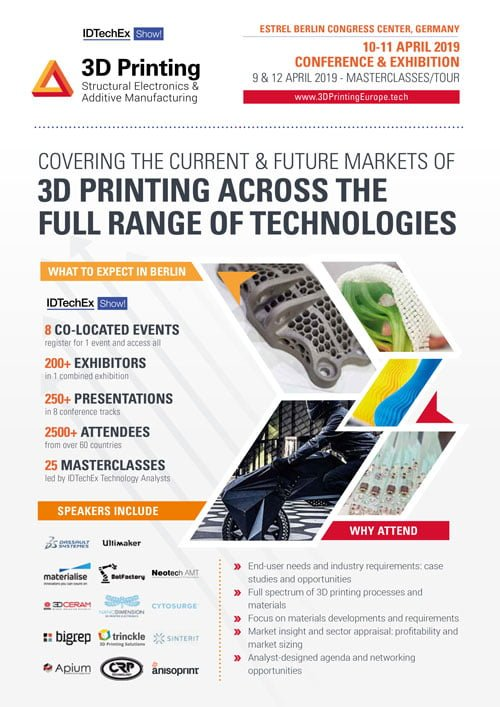 3D Printing Europe2019 Pamphlet
