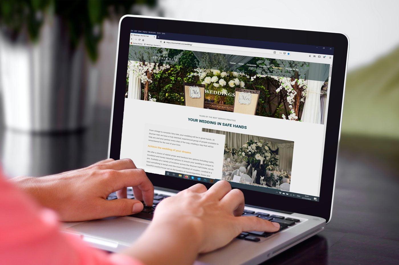 Website for Sturmer Hall Estaterhall