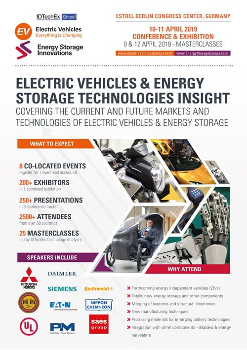 Electric Vehicles and Energy Storage Europe 2019