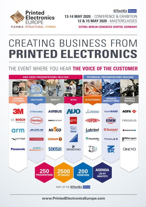 Printed Electronics Europe2020 Conference pamphlet