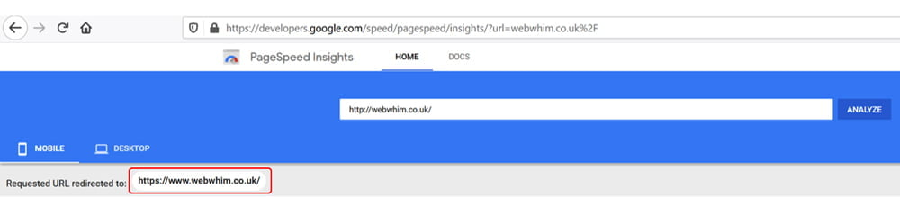 Measure the correct URL to receive reliable results