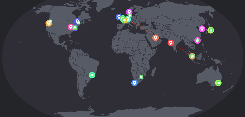 WordPress website using free Cloudflare CDN service.